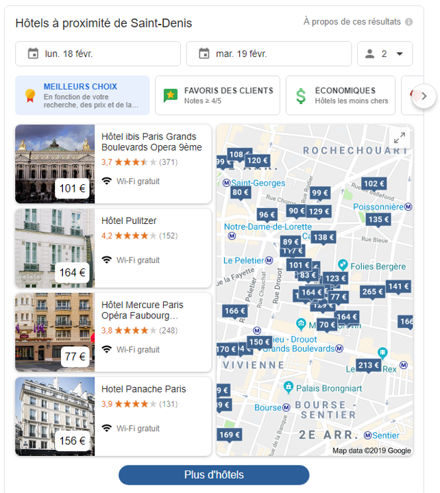 Google - Hotel Search Experience