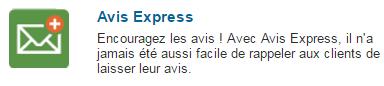 Séléctionnez Avis Express