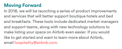 airbnb moving forward