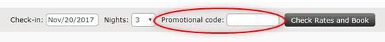 Vous pouvez désormais vendre des chambres avec un code promotionnel
