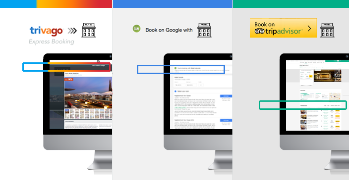 trivago Express Booking, Book on Google et TripAdvisor Instant Booking