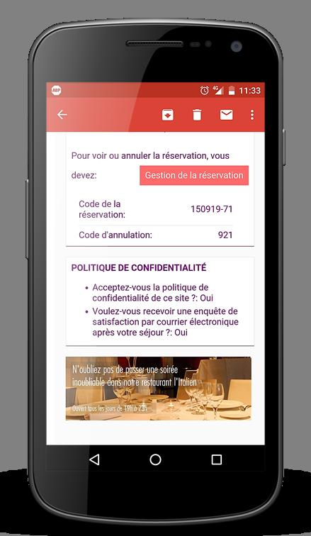 confirmation portable mobile hotel mirai